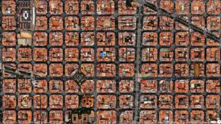バルセロナ新市街上空から