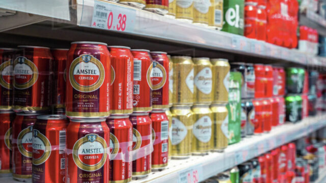 Canned Beer at Supermarket