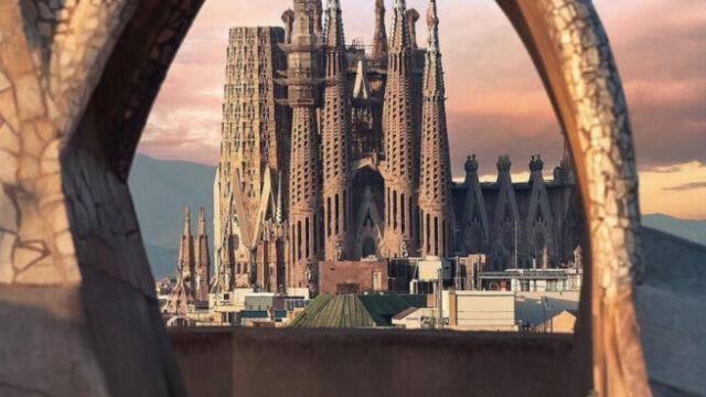 Sagrada Familia through Casa Mila