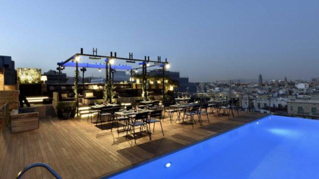 Grand Hotel Central Barcelona : Sky Bar