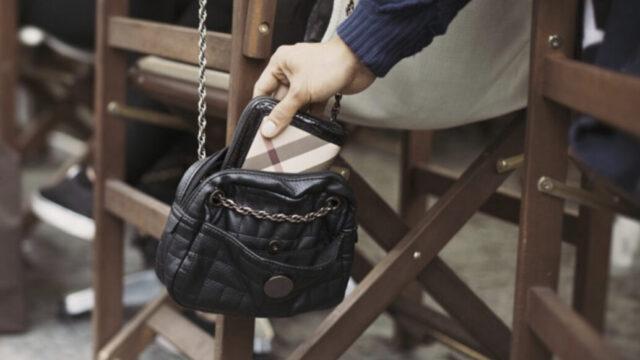 hanging bag on chair