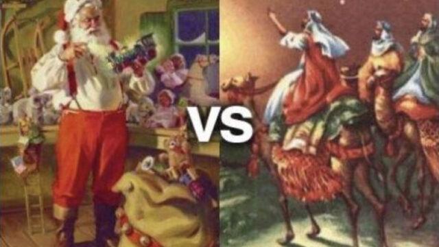 santa claus vs reyes de magos