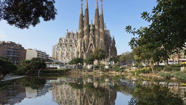 upside down Sagrada Familia